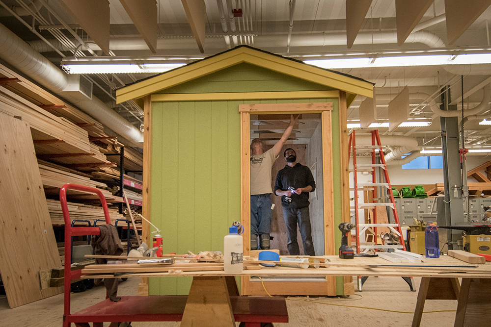 Seattle Central Wood Technology students build houses for city's homeless