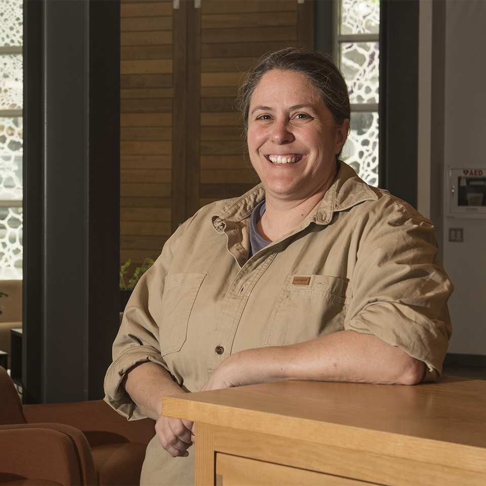 Wood Technology instructor Catie Chaplan